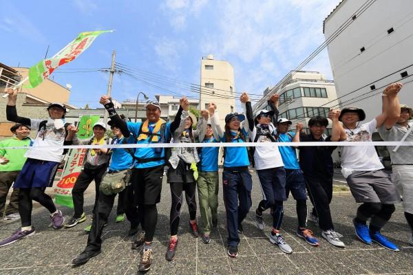 関西チャリティ100km歩こうよ♪大会 姫路城ゴール